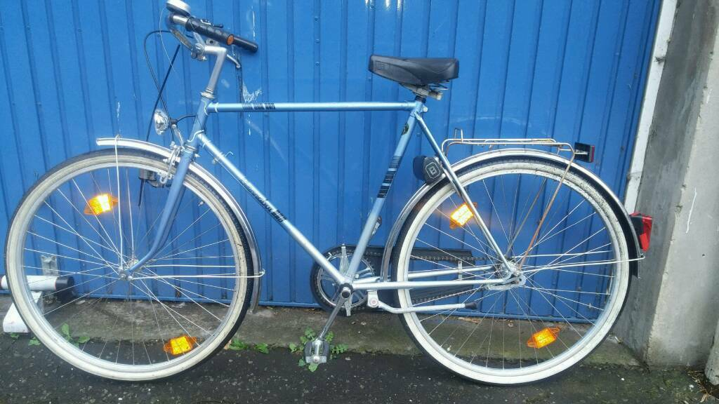 German quality bike just needs gear cablein Holyrood, EdinburghGumtree - Suitable for someone168cm to 182cm tall5ft 6 to 6ft tallJust needs a gear cableStill running conditionFront and rear mudgaurdsGood treaded tyresSharp brakesRear carry rackSide standDynamo lightsAny viewing welcome£50.0001315562089