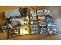 Sony ps1 console & games bundle vgc working order