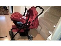 Joie aire Pram/Stroller/ pushchair with baby infant car seat- travel system OFFERS ACCEPTED