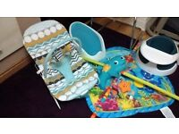 Mamas and Papas Baby Bouncer & Snug Seat, Angel care Bath Support and Play Gym