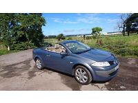 Beautiful 4 seater convertible megane. Cream leather seats and automatic roof, MOT May 17th 2017