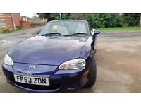 Mx5 convertible long mot full service history economical tidy cd aloy no rust £1750ono