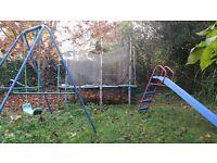 Trampoline, Swing & Slide