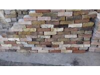 Yellow red mixed London stock reclaimed bricks