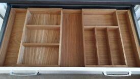 New large oak cutlery tray 400x600mm