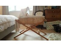 John Lewis Moses basket with stand and rocker