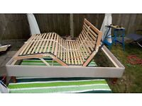 Double adjustable bed in good condition with optional king conversion