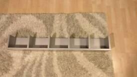 Grey bookcase shelf dvd/cd rack