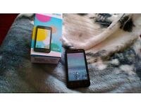 For sale we have a new alcatel pixi 4 is has 4 inch on tesco , comes with box,charger earphones