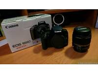 Canon 1000D camera including 18-55mm lens, charger and original box