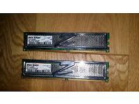 OCZ pc2 6400 2X2GB COMPUTER MEMORY