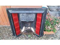 Cast Iron Fireplace Tiled Insert Victorian Style