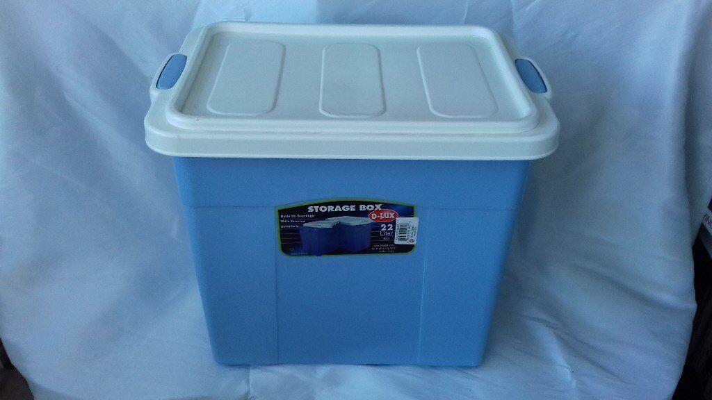Plastic 2 litre storage boxes with lids