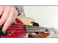 Electric bass guitar tuition available in south east London and Gravesend (Kent)