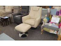 Furniture Village World of Leather Sanza Leather Swivel Chair Can Deliver