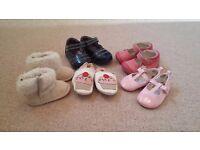 Range of baby girls shoes