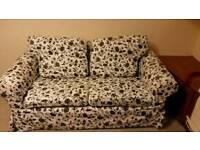 2 seater sofa black & white / red & white
