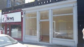 Edinburgh (EH9) Refurbished shop / 2 large display windows / Minto Street to let. May Sell