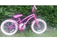 "Girls bike 14"" diameter wheels. Good condition."
