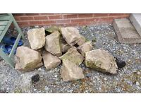 17 large and medium rockery stones
