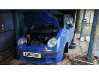 Daewoo Matiz 2001 spairs or repairs NOT SELLING WHOLE