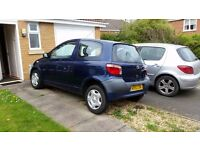 TOYOTA YARIS , fully MOT'd -well looked after CHEAP £300 ono