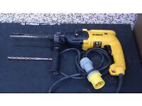 Dewalt SDS 110v drill/as new