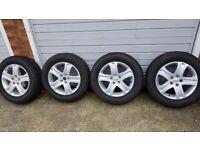 "4x 17"" Suzuki Vitara alloy wheels (5x114.3) + 225/65R17 winter tyres (7mm) - subaru toyota"