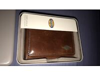 Fossil Brown Leather Wallet RFID Protected