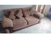 2 x 3 seater sofa's in brown - good condition few marks of wear and tear, need to go asap