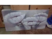 Large textured wall art canvas