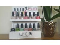 CND Vinylux nail varnish with rack!