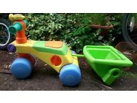 Push-along Trike/tricycle for toddlers - with trailer