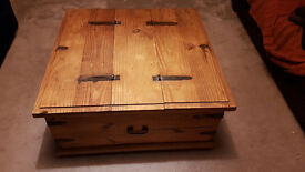 Antique Wooden Trunk with ornate fittings