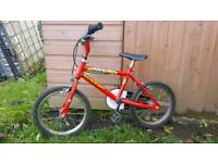 Children's bicycle in need of repair or for spares.