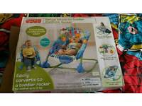 Fisher price bouncer to rocker seat