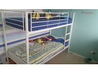 White metal frame bunk beds (frame only)