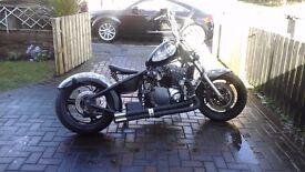 Suzuki bandit 1200cc bobber chop
