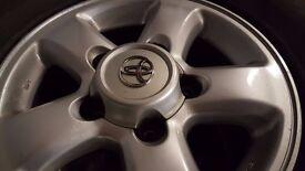 Toyota Landcruiser Amazon 100series Full Set of Alloy Wheels with near New Tyres