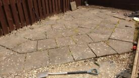 Concrete slabs - half hexagonal shape once laid