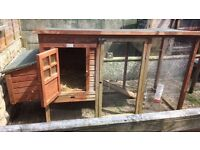 Chicken House with egg laying section attached,fair condition but out in rain at moment !