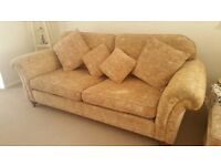 Duresta from John Lewis 3 seater sofa with 4 matching scatter cushions