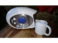 Swan teasmade, radio, used once. Brand new condition.