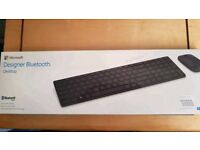 Microsoft Designer Bluetooth Keyboard and Mouse... immaculate and perfect working order.