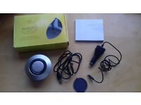 Handfree speakerphone Iqua miniUFO Bluetooth PHF-301 wireless and portable