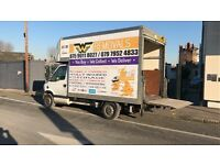Man and van house removals same-day jobs rubbish removal tree cutting