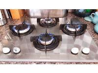 Ariston glass gas hob