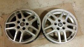 2x Alloy wheels Vauxhall Vectra Sri 16 inch