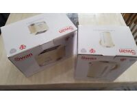 brand new cream Swan toaster and kettle