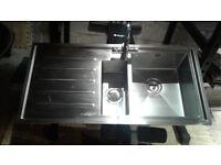Carbon phoenix vela 150 lhd sink + franke mixer tap set ex display